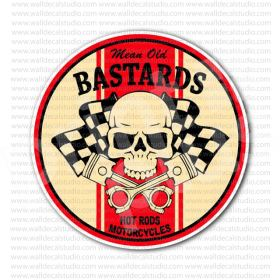 mean old bastards hot rod motorcycle sticker