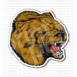 Angry Bear Grizzly Head Sticker