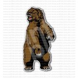 Angry Bear Roaring Grizzly Sticker