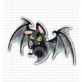 Angry Bat Mouse Rearmouse Sticker