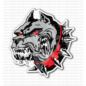 From 4 00 Buy Angry Pitbull Dog Red Eyes Head Sticker At