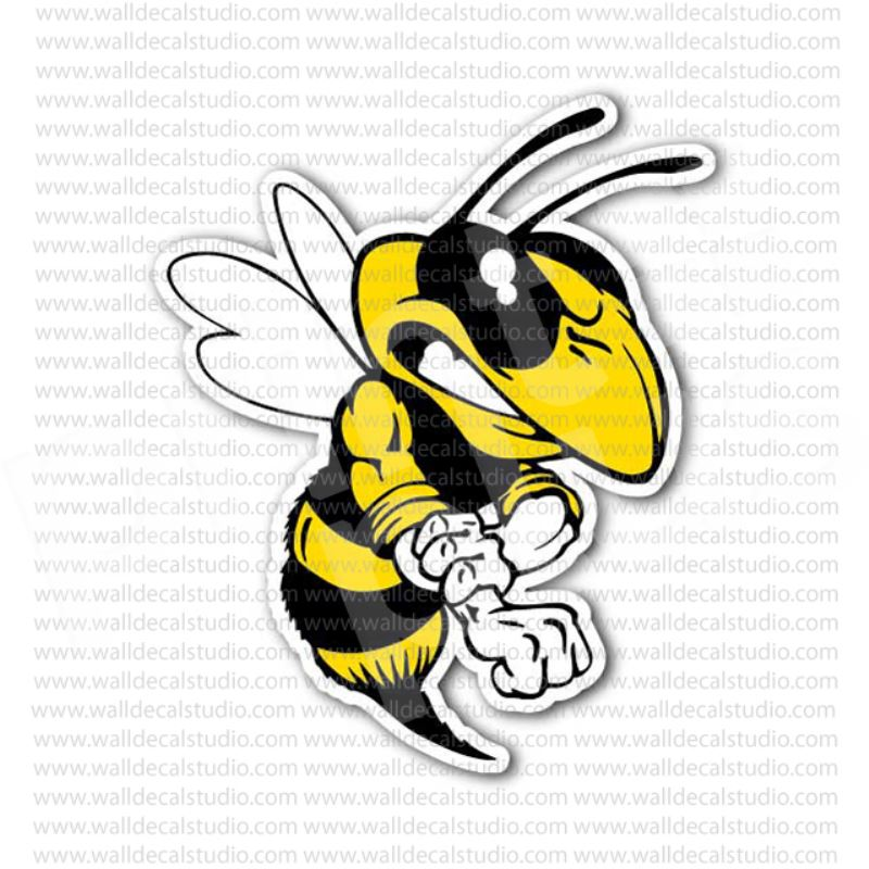Angry Bee Fighter Sticker