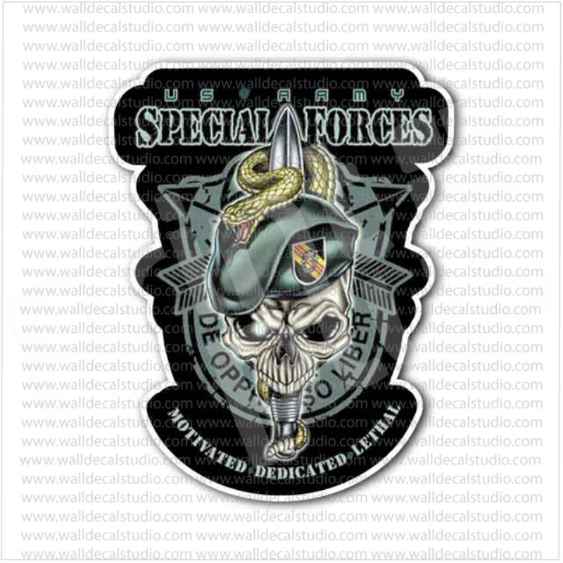 US Army Special Forces Soldier Skull Sticker