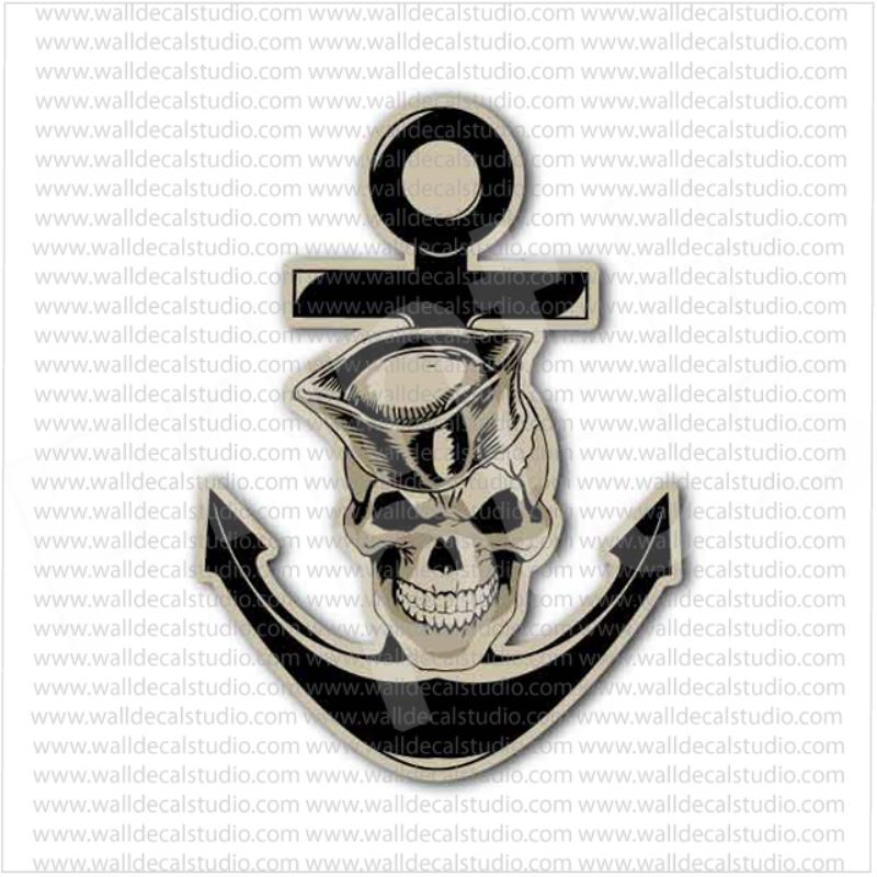 from 4 50 buy usn united states us navy anchor skull sticker at