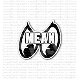 From 4 50 Buy Mean Moon Eyes Racing Sticker At Print Plus