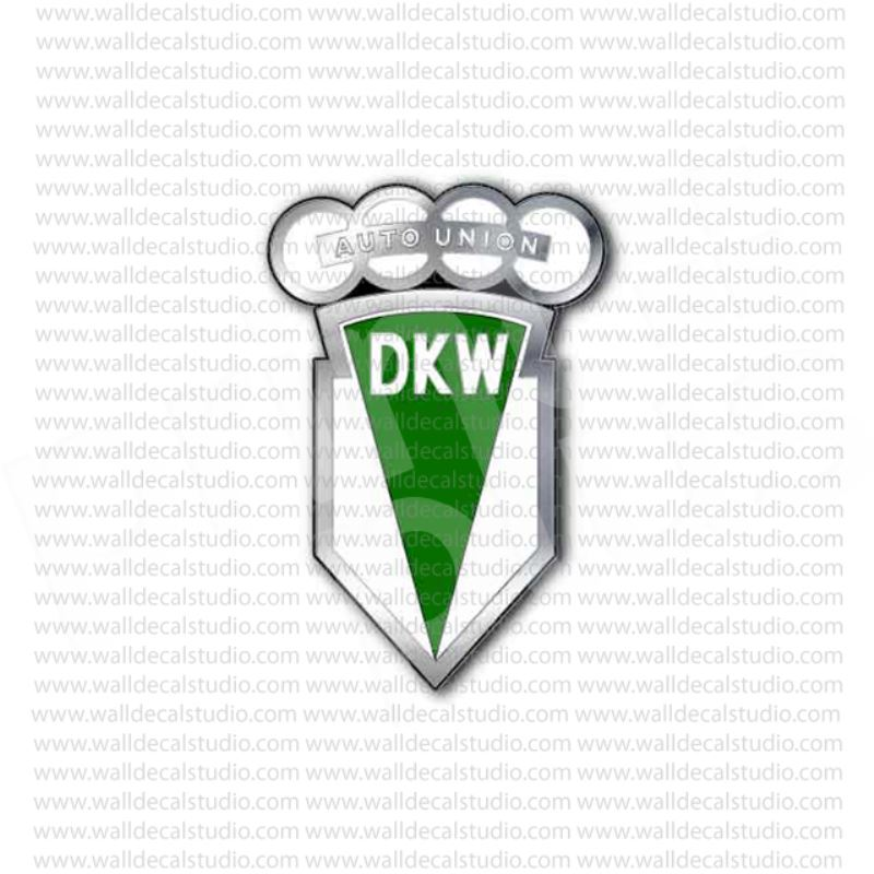 Vintage audi dkw auto union german sticker