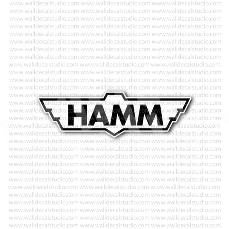 Hamm ag german road roller heavy equipment sticker