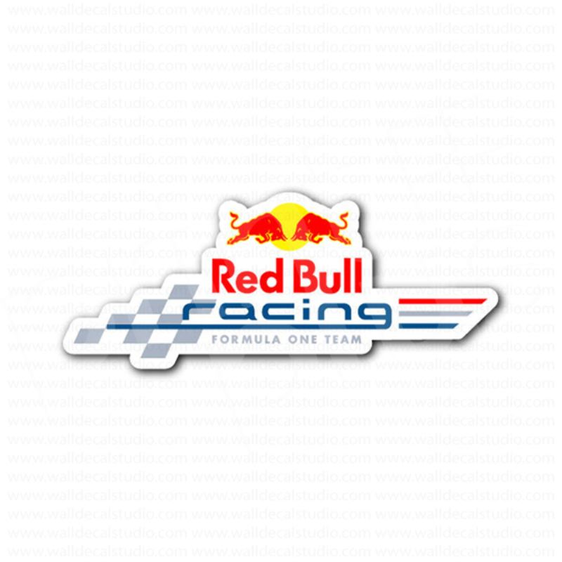 Red bull racing f1 racing team sticker