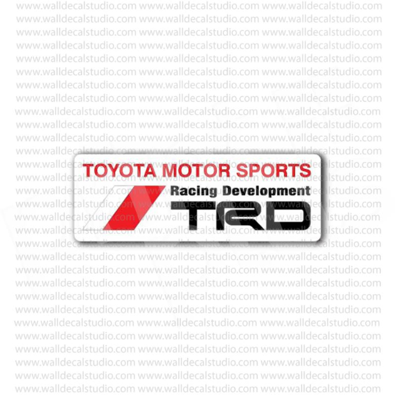 From 4 50 Trd Toyota Motor Sports Racing Development Sticker At Print Plus In Stickers Automotive