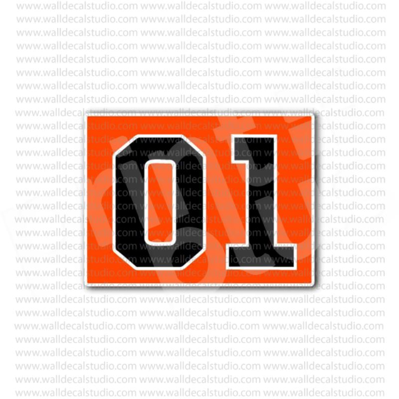 01 >> General Lee Car 01 Muscle Car Duke Racing Sticker