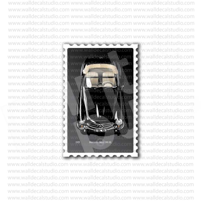 From buy mercedes benz 1955 190 sl nostalgia retro for A mercedes benz product sticker