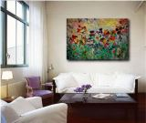 Abstract Garden Flowers Giclee Print