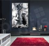 Abstract Art Gray Canvas Giclee Print Wall Decor