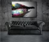 Color Lips Modern Art Canvas Poster Print