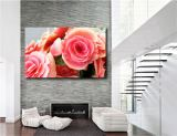 Pink Roses Flowers Rose Canvas Giclee Art Print