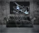 Metal Guitar Music Notes Giclee Art Canvas Print