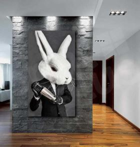 Barman Rabbit Giclee Canvas Abstract Art Print