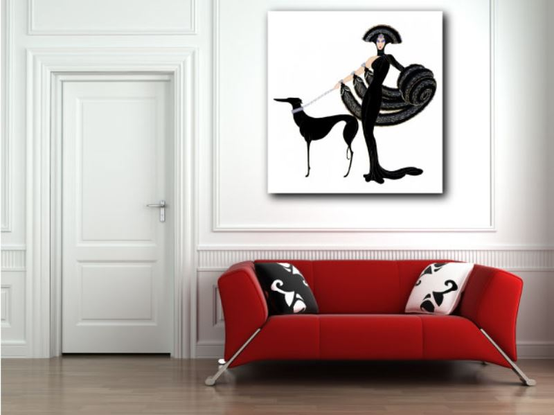 Erte art deco canvas giclee art print