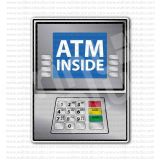 ATM Inside Sign Sticker