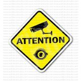 Attention Security Video Camera Sign Sticker