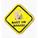 Baby on Board Safety Warning Sign Sticker