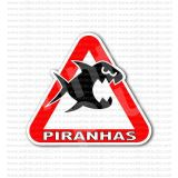 Beware Piranhas Warning Sign Sticker