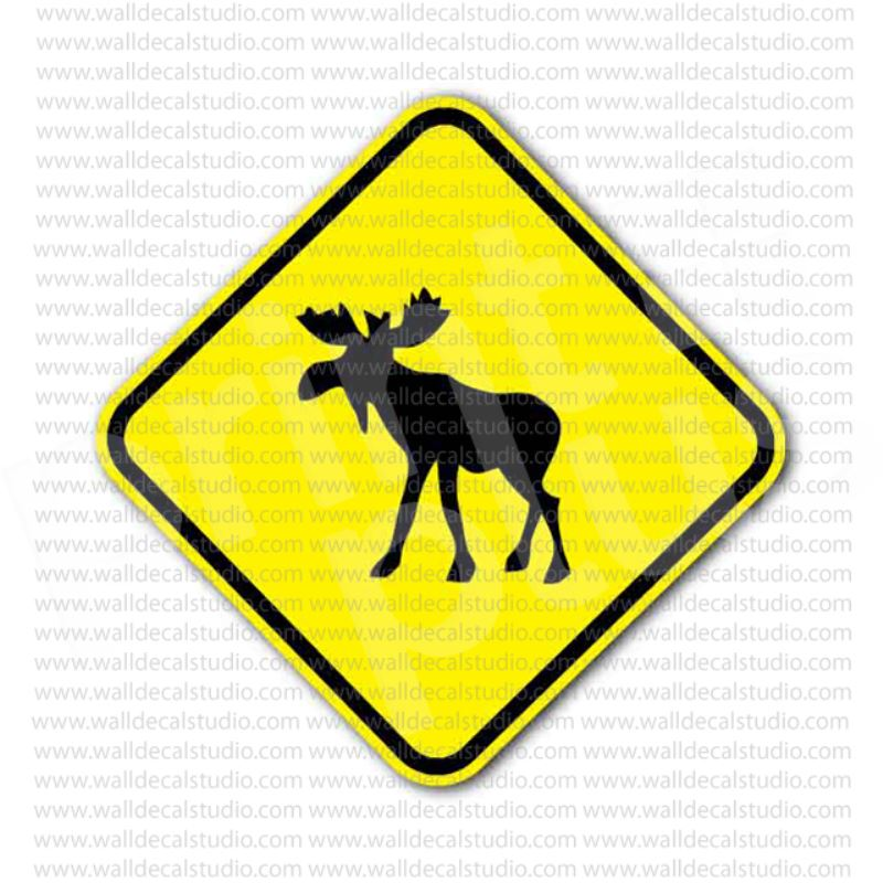 from 4 00 buy moose x ing crossing sign sticker at print plus in