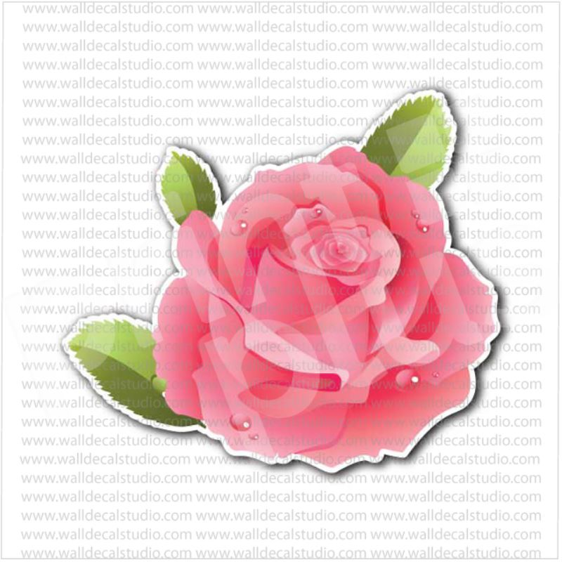 From 400 buy pink rose with leafs flower sticker at print plus in pink rose with leafs flower sticker mightylinksfo