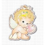 Cupid Baby Angel with Heart Sticker