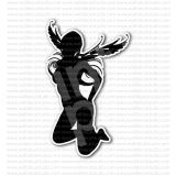 Angel Girl Silhouette Sticker