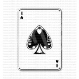 Ace of Spades Card Sticker