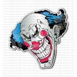 Joker Jester Clown Angry Smiley Face Sticker