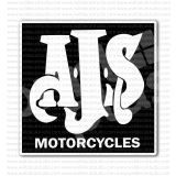 AJS Motorcycle Racer Old Emblem Sticker