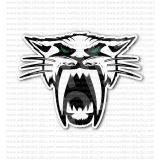 Arctic Cat Head Green Eyes Snowmobiles Sticker