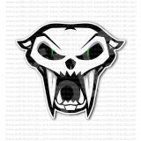 Arctic Cat Head Snowmobiles Racing Sticker