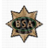 BSA Motorcycles Gold Star Old Emblem Sticker