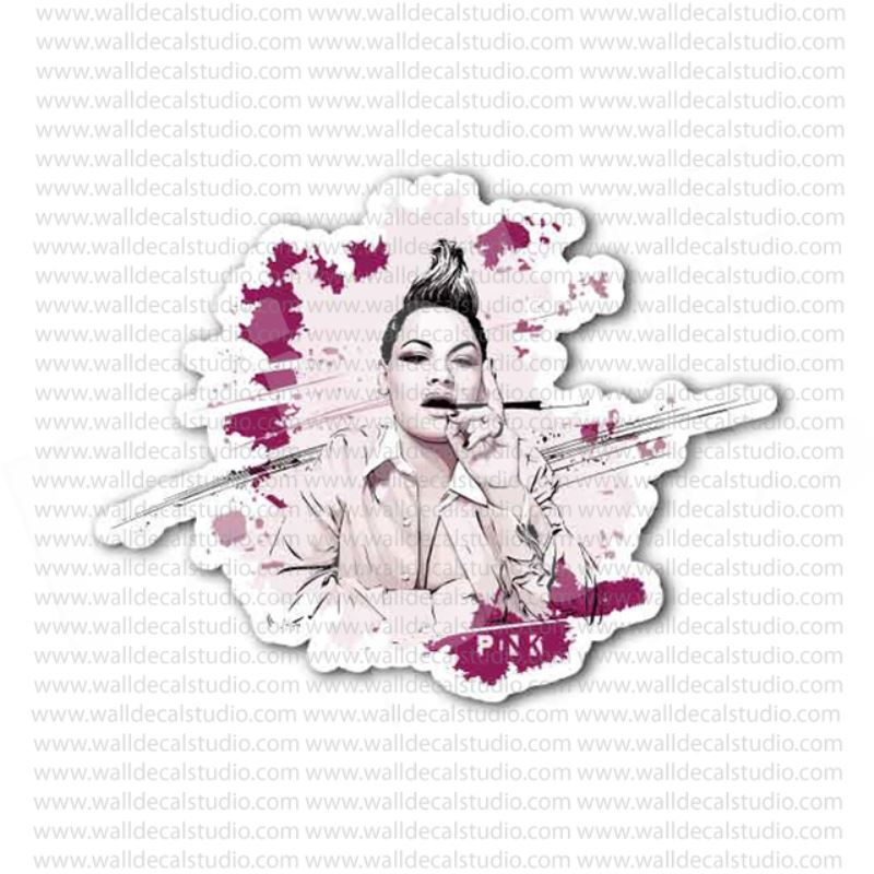 Pink Pop Rock Singer P!nk Sticker