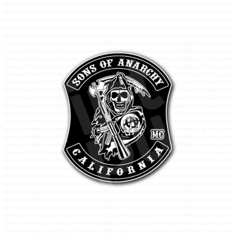 sons of anarchy california mc sign sticker. Black Bedroom Furniture Sets. Home Design Ideas