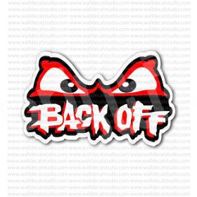 Back Off Angry Eyes Sticker