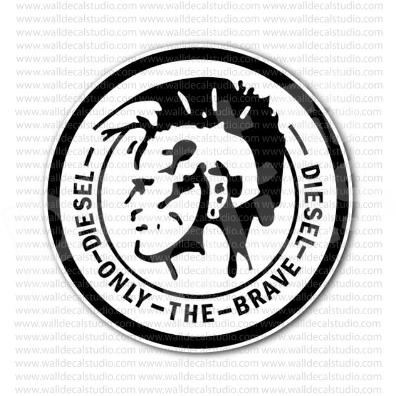 From 4 50 Buy Diesel Industry Only The Brave Emblem