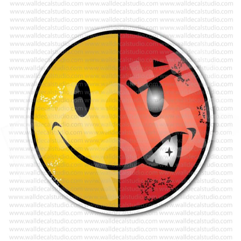 From 4 50 Buy Smiley Angry Face Sticker At Print Plus In