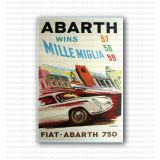 Abarth Wins Mille Miglia 57  by Pino Barale Poster