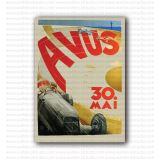 Avus 1937 Racing Poster by Ludwig Holwein, Germany