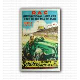 1937 RAC Isle of Man Road Race Event Poster