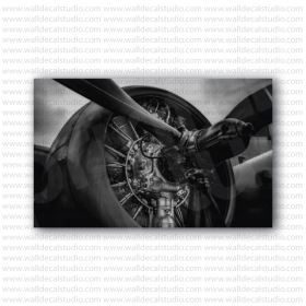 Aircraft Military Fighter Propeller Photo Poster
