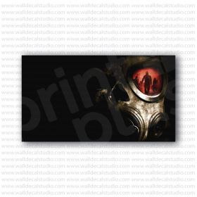 Gas Mask Skull Soldier Military Poster