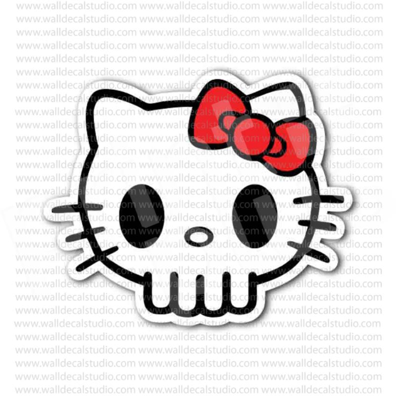 From $4.00 Buy Hello Kitty Skull Sticker At Print Plus In Stickers Skulls  At Print Plus