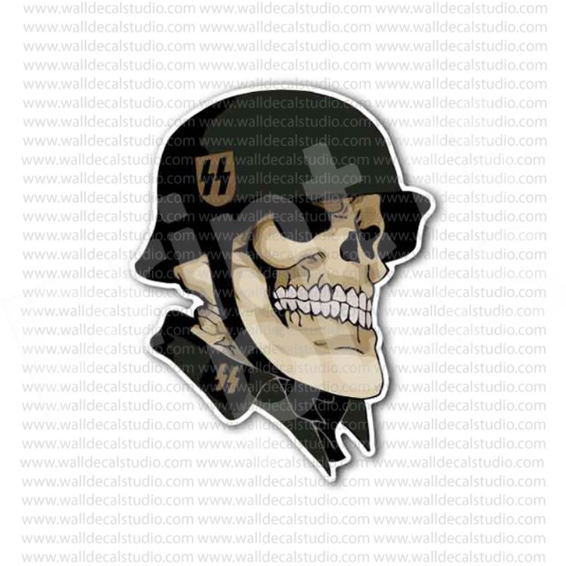 German skull ss soldier nazi sticker