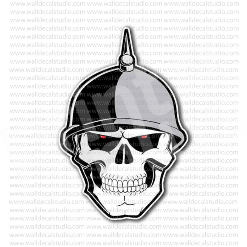 From 400 buy skull german soldier nazi spiked helmet sticker at