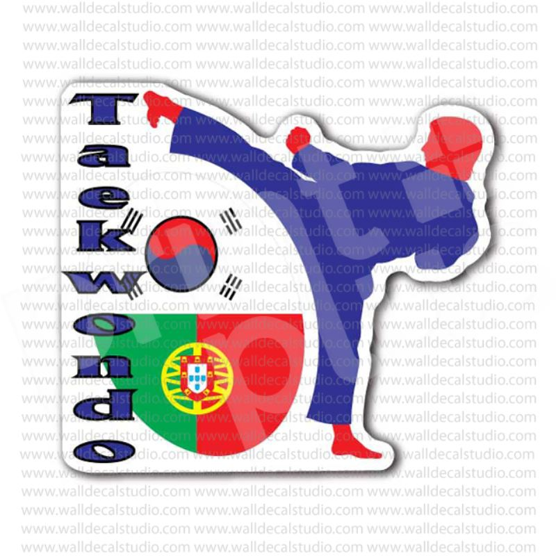 From 400 Buy Taekwondo Symbol Korean Flag Sticker At Print Plus In